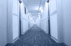 Hotel corridor Stock Photos