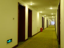 Hotel corridor. With light,nobody Stock Photography