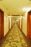 Hotel corridor. With light,nobody Stock Photos