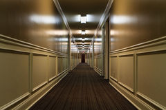 Hotel corridor Royalty Free Stock Photo