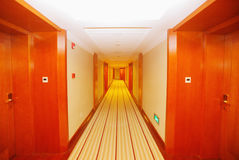 Hotel corridor. The hotel corridor is spreading the rug Royalty Free Stock Images