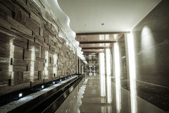 Hotel corridor. Interior.Part of luxury hotel Stock Image