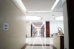 The hotel corridor landscape Stock Photo