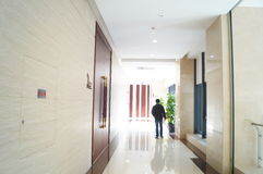 The hotel corridor landscape Royalty Free Stock Photography