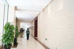 The hotel corridor landscape Royalty Free Stock Photos