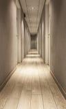 Hotel corridor. The corridor in a modern hotel Royalty Free Stock Photos