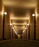 Hotel corridor perspective Royalty Free Stock Image