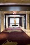 Hotel corridor with window Stock Images