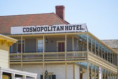 Hotel cosmopolita en el parque de San Diego Old Town Historic State - SAN DIEGO - CALIFORNIA - 21 de abril de 2017 Fotografía de archivo libre de regalías