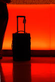 Hotel counter with luggage at night royalty free stock photos