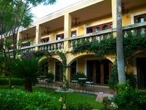 Hotel court at San Jose  Sea of Cortez. Cozy intimate hotel at San Jose del Cabo, Baja Mexico Stock Photo