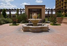 Hotel courtyard Royalty Free Stock Photos