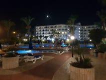 Hotel in Aya Napa. Hotel courtyard in Aya Napa,Cyprus royalty free stock image