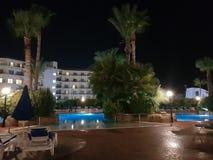 Hotel in Aya Napa. Hotel courtyard in Aya Napa,Cyprus stock image