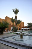 Hotel courtyard,Ouarzazate stock photos