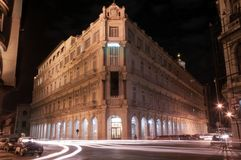 Hotel cubano clássico na noite Habana 8-01-2009 Imagem de Stock Royalty Free