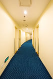 Hotel curved corridor Stock Image