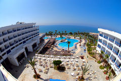 Hotel in Cyprus Stock Afbeelding