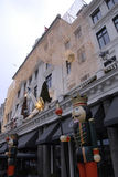 HOTEL D'ANGLETERRE CHRISTMAS LIGHTS Stock Images