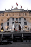 HOTEL D'ANGLETERRE CHRISTMAS LIGHTS Royalty Free Stock Photo