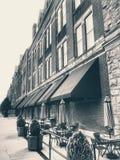 Hotel d'annata e caffè Immagine Stock Libera da Diritti