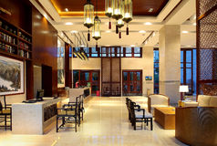 Hotel da corte de Sanya, mar de China quatro estações Imagens de Stock