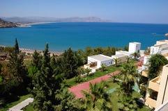 Hotel da opinião do mar Imagem de Stock