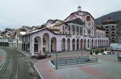 Hotel da plaza de Gorki em mais baixo Gorod - a estância turística e o jogo da todo-estação dividem 540 medidores acima do nível  Foto de Stock