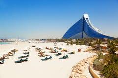 Hotel da praia de Jumeirah, Dubai Fotos de Stock Royalty Free