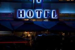 Hotel da praia, Miami Fotos de Stock Royalty Free