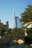 Hotel das estrelas do árabe sete do al de Burj Fotos de Stock Royalty Free