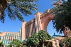 Hotel de Atlantis da vista em Dubai, UAE Imagens de Stock Royalty Free