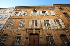 Hotel DE Barlet (circa XVIII c.). Aix-en-Provence, Frankrijk Stock Fotografie