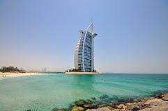 Hotel de Burj Al Arab en Dubai Imágenes de archivo libres de regalías