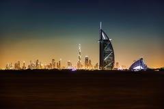 Hotel de Burj Al Arab y de Jumeirah Fotos de archivo