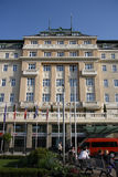 Hotel de Carlton em Bratislava (Eslováquia) imagens de stock