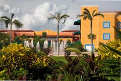 Hotel de centro turístico de México Imagen de archivo