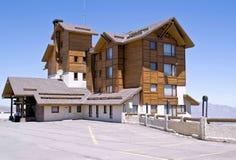 Hotel de centro turístico en el valle Nevado Imagen de archivo