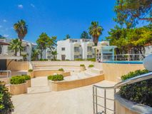 Hotel de cinco estrelas do território da paisagem Imagem de Stock Royalty Free