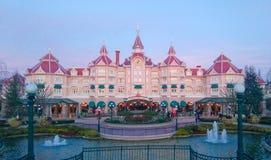 Hotel de DISNEYLAND PARÍS Mickey Mouse Imágenes de archivo libres de regalías