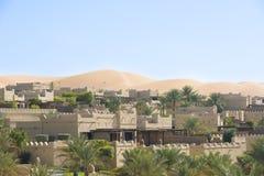 Hotel in de Duinen, Abu Dhabi stock afbeelding