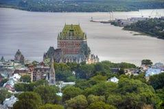 Hotel de Frontenac, Κεμπέκ, Καναδάς στοκ εικόνα με δικαίωμα ελεύθερης χρήσης