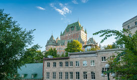 Hotel de Frontenac. Beautiful view of Quebec City Castle Stock Photos