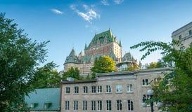 Hotel de Frontenac Belle vue de château de Québec Photos stock