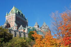 Hotel de Frontenac do castelo Imagem de Stock Royalty Free