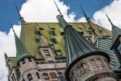 Hotel De Frontenac en la ciudad de Quebec Imagen de archivo libre de regalías