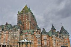 Hotel de Frontenac, Quebec, Canada. Detail of the Quebec Castle, Canada, August 2006 Stock Images