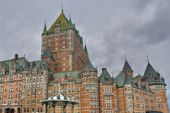 Hotel de Frontenac, Quebec, Kanada Stockbilder