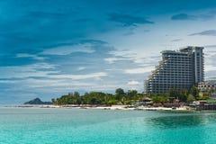 Hotel de Hua- Hin beach.and Fotografia de Stock