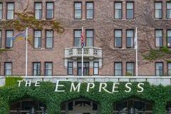 Hotel de la emperatriz, Victoria, Columbia Británica, Canadá Foto de archivo